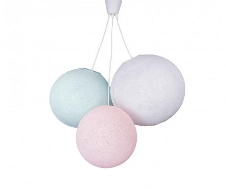 Triple Pink Aqua White Csillár
