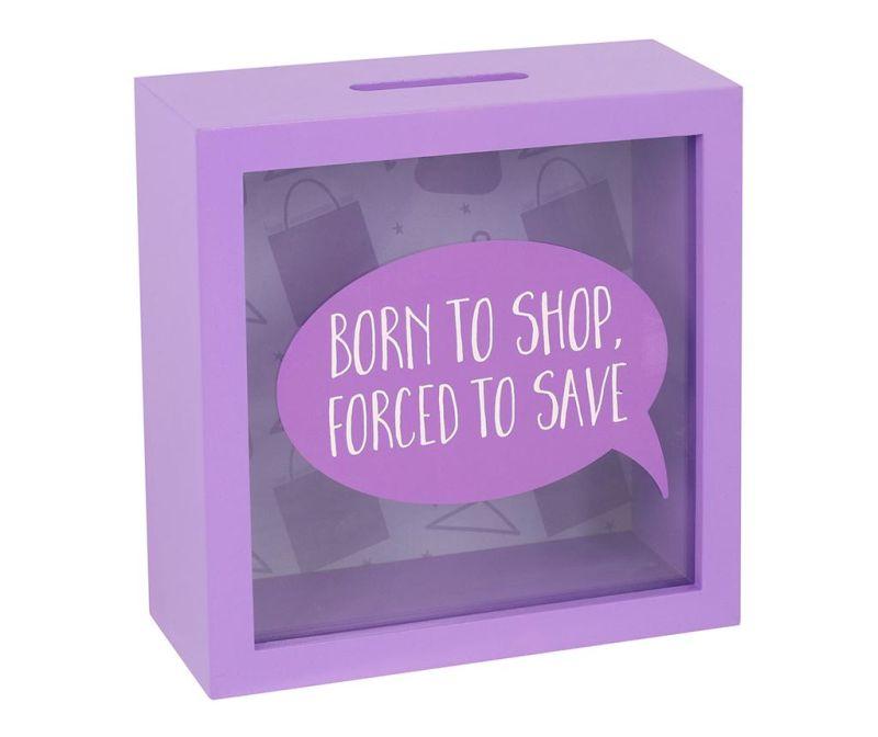 Štedna kasica Born to Shop