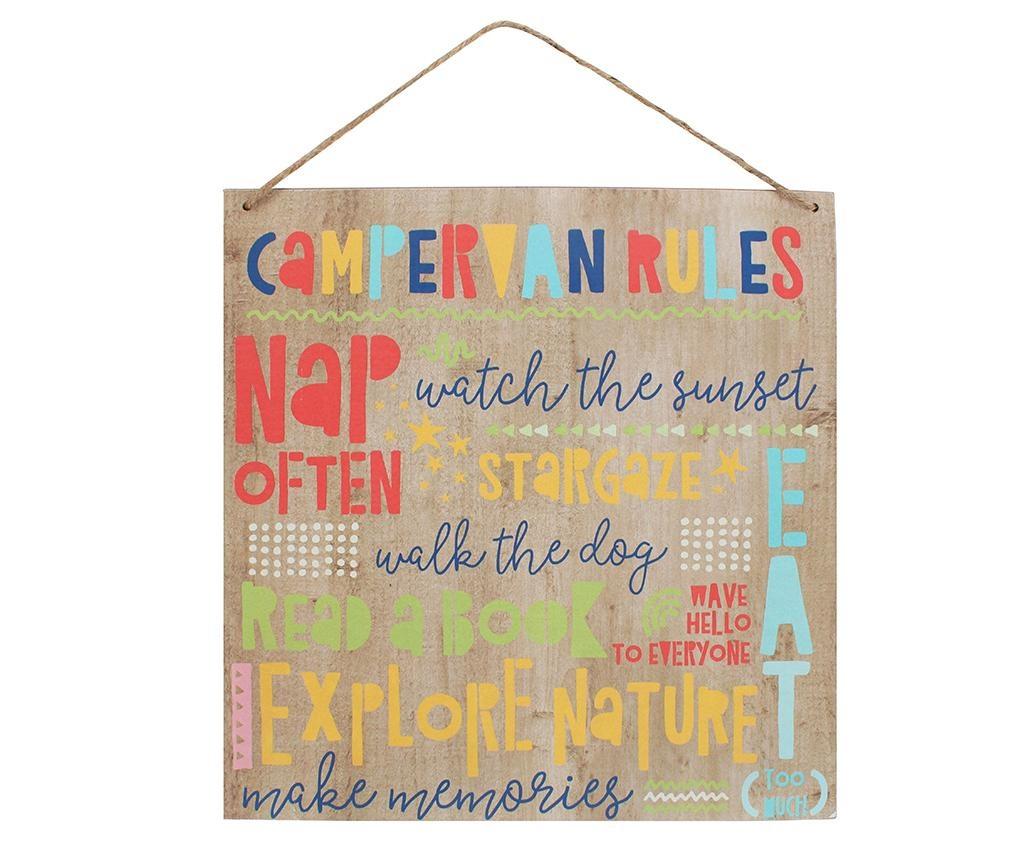 Stenska dekoracija Camper Rules