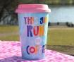 Cana de calatorie This Girl Runs on Coffee 350 ml