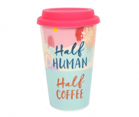 Κούπα ταξιδιού Half Human and Half Coffee 350 ml