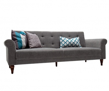 Rozkładana kanapa trzyosobowa Madona Grey