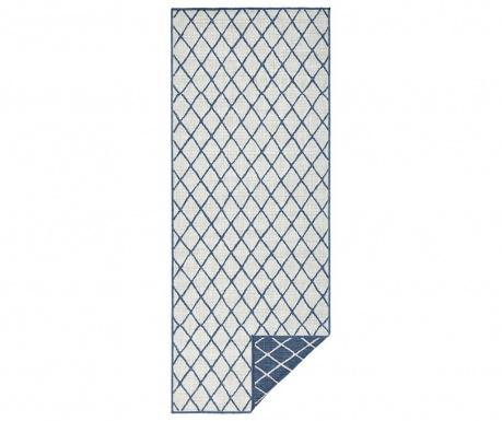 Venkovní koberec Twin Malaga Blue Cream