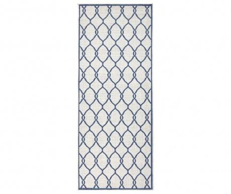 Venkovní koberec Twin Rimini Blue Cream