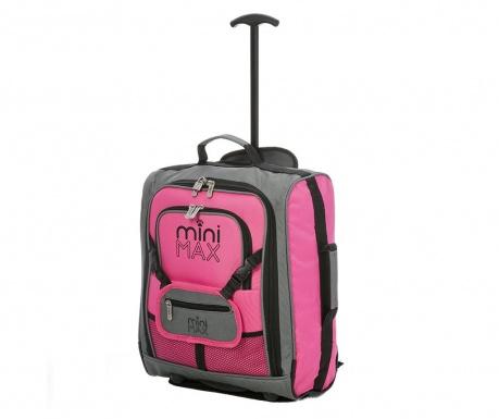 Dziecięca walizka na kółkach Karen Pink 30 L