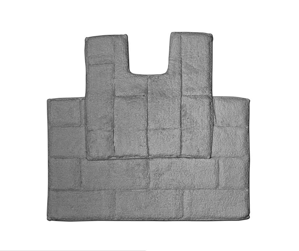 Set - brisača za na tla in kopalniška preproga Quiana Charcoal