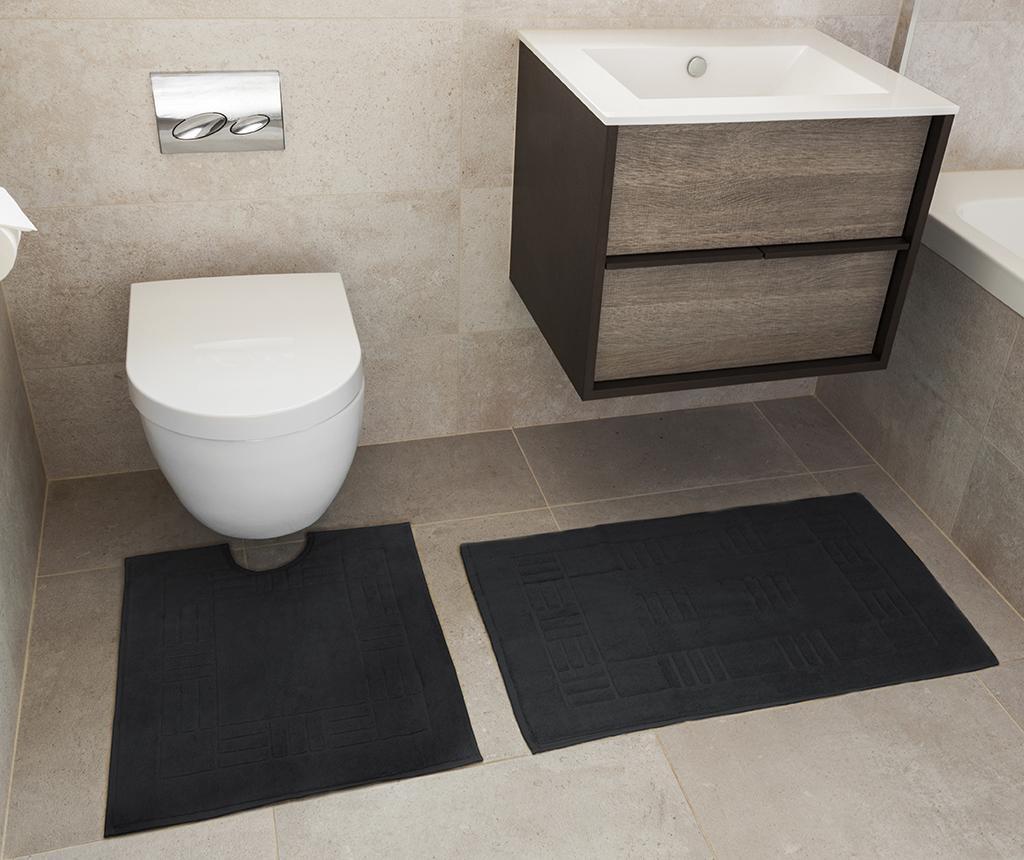 Reversible Verica Black Fürdőszobai kilépő és szőnyeg