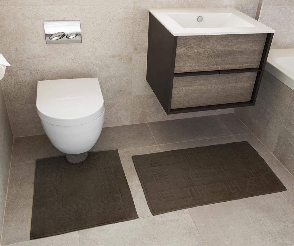 Reversible Verica Chocolate Fürdőszobai kilépő és szőnyeg