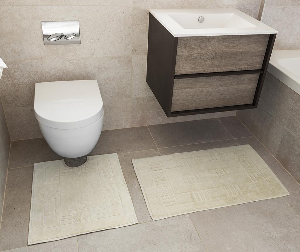 Reversible Verica Cream Fürdőszobai kilépő és szőnyeg
