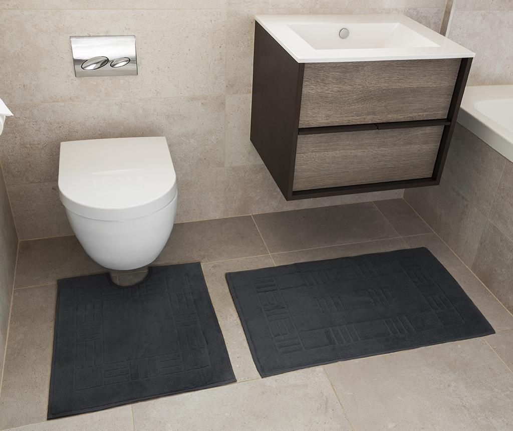 Set - brisača za na tla in kopalniška preproga Reversible Verica Grey