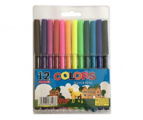 Set 12 flomastrov na vodni osnovi My Design
