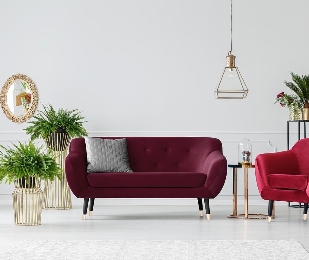 Amelie Wine Red Black Kétszemélyes kanapé