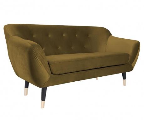 Canapea 2 locuri Amelie Gold Black