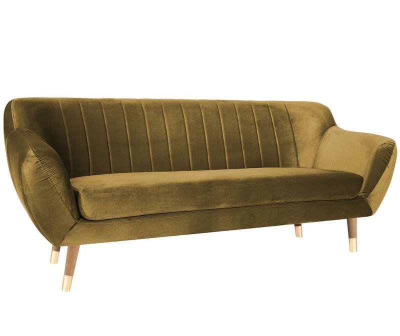 Benito Gold Natural Háromszemélyes kanapé