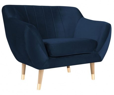 Benito Dark Blue Natural Fotel
