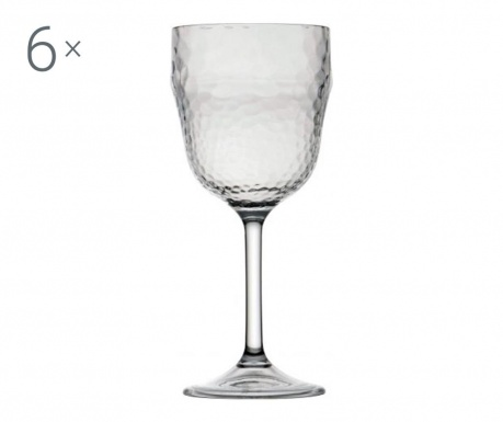 Set 6 kozarcev za vino Ice 410 ml