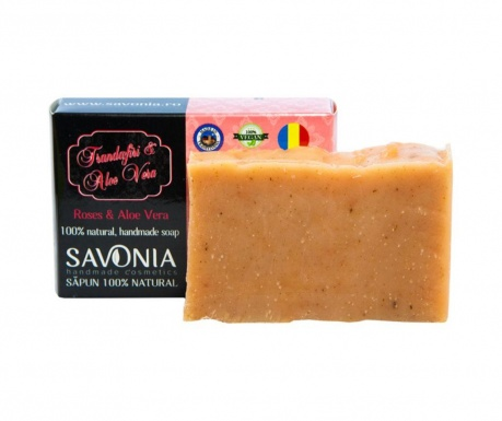 Mýdlo s růžemi a aloe vera Natural Savonia 90 g