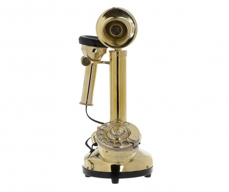 Dekoracija Golden Antique Telephone