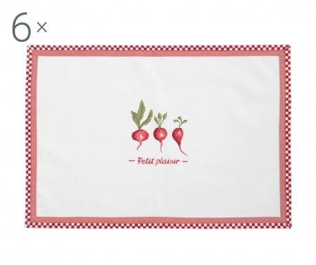 Petit Plaisir 6 db Tányéralátét 33x48 cm