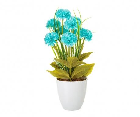 Umelá rastlina v kvetináči Crysanthenum  Blue