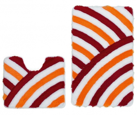 Set 2 covorase de baie My In Style Orange Red
