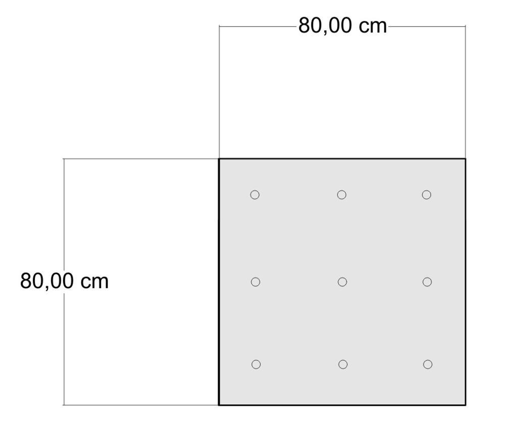 Perna de podea Yantra Grey Beige 80x80 cm