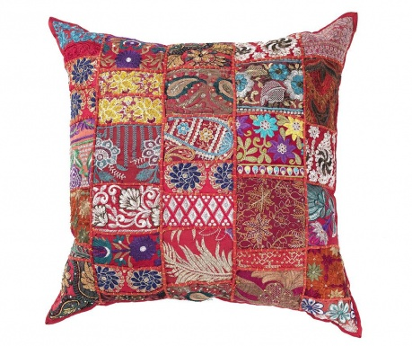Perna decorativa Yantra Red Patch 52x52 cm