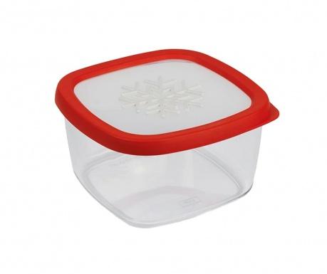 Snowflake Red Ételtároló 1.5 L