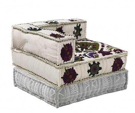 Set jastuk za sjedenje i podni jastuk Yantra White Grey