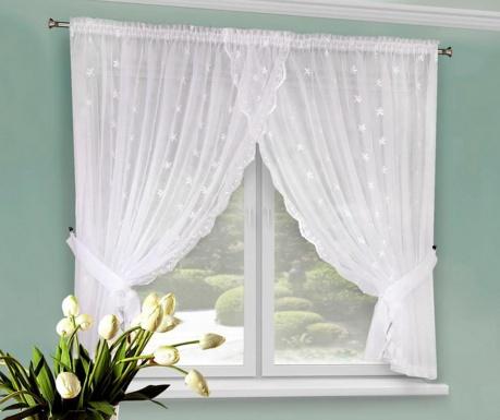 Záclona Eliza White 145x320 cm