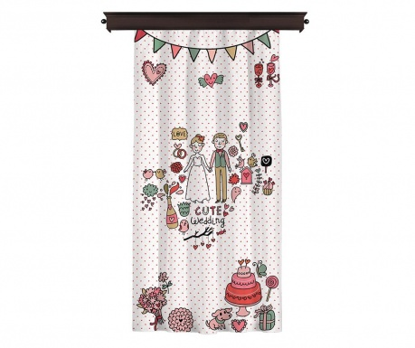 Draperie Cute Wedding 140x260 cm