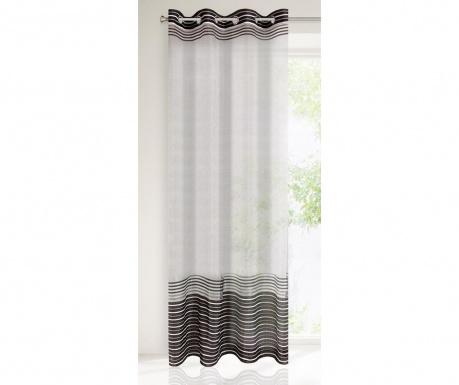 Záclona Evi White Black 140x250 cm