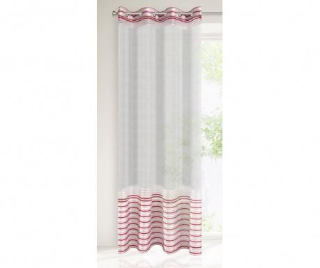 Evi Silver Red Függöny 140x250 cm