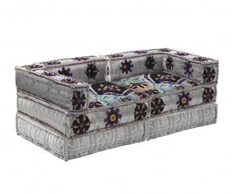 Set 2  jastuka za sjedenje i 2 podna jastuka Yantra Dark Grey