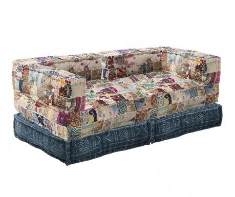 Set 2  jastuka za sjedenje i 2 podna jastuka Yantra Beige Patch