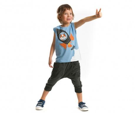 Set tricou si pantaloni trei sferturi pentru copii Mission Space