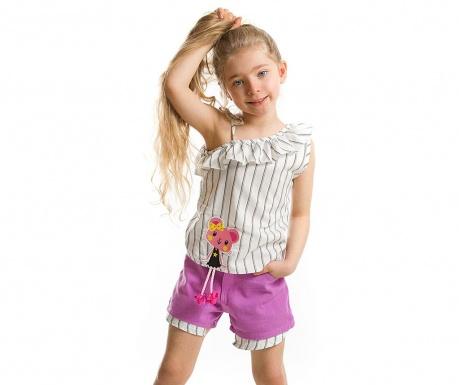Set bluza si pantaloni scurti pentru copii Miss BeautYears
