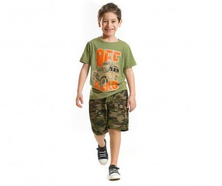 Set tricou si pantaloni scurti pentru copii Off Road