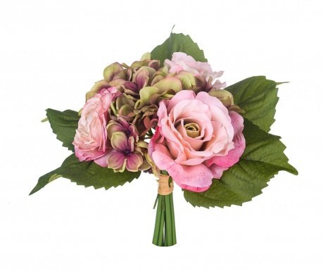 Buchet flori artificiale Rose and Ranunculus Mauve