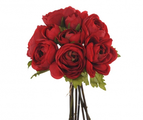 Buchet flori artificiale Ranunculus Red