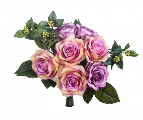 Buchet flori artificiale Rose Bouquet Mauve