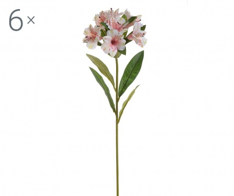 Set 6 flori artificiale Alstroemeria Cream