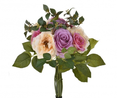 Buchet flori artificiale Rose Lavander