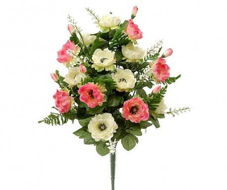 Kytice z umělých květin Anemone Pink
