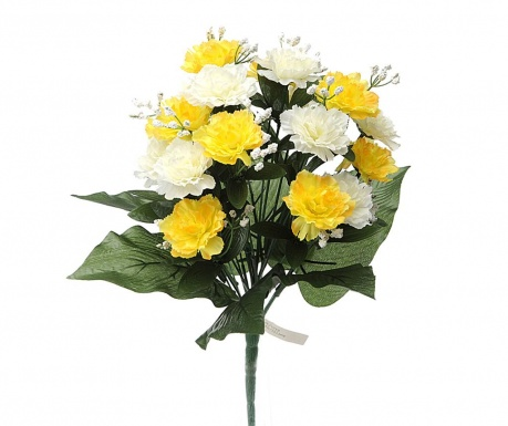 Buchet flori artificiale Carnation and Gypsophila White