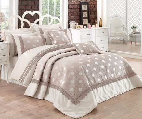 Caren Beige King Ranforce Jacquard Supreme Ágynemű