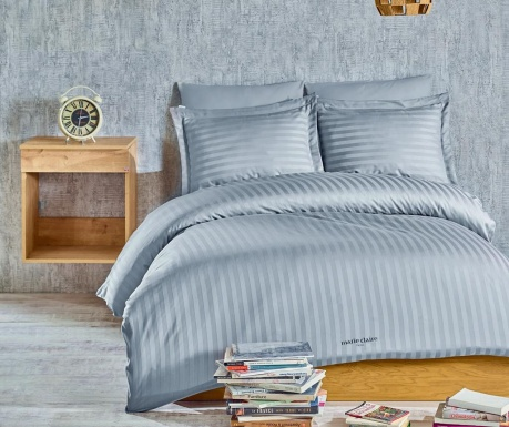 Lenjerie de pat Single Satin Vogue Grey