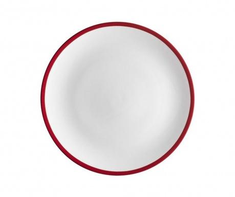 Swoon Red Desszertes tányér