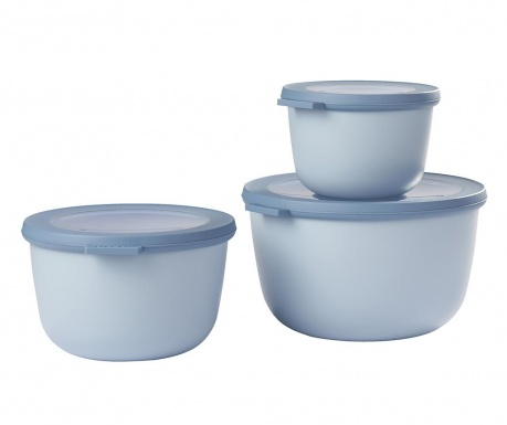 Set 3 caserole Sophi Blue