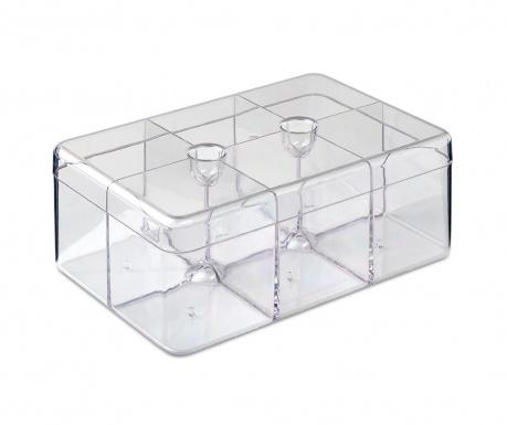 Škatla za čaj s pokrovom Clear Tea